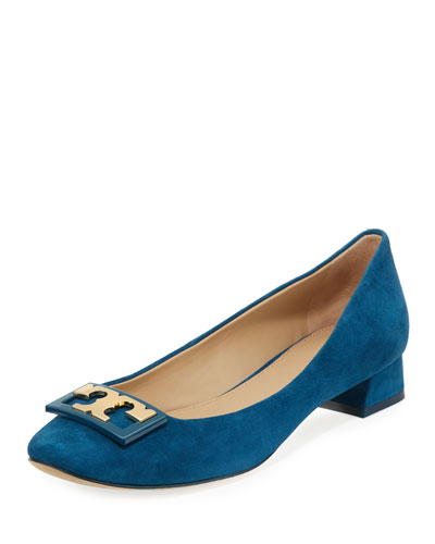 Gigi Logo Suede 25mm Pump