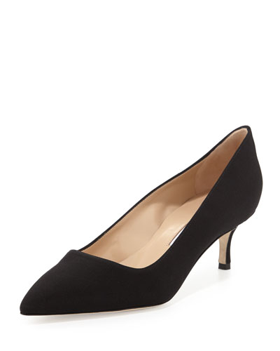 BB Crepe 50mm Pump, Black