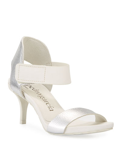 Wendelin Leather Low-Heel Sandal