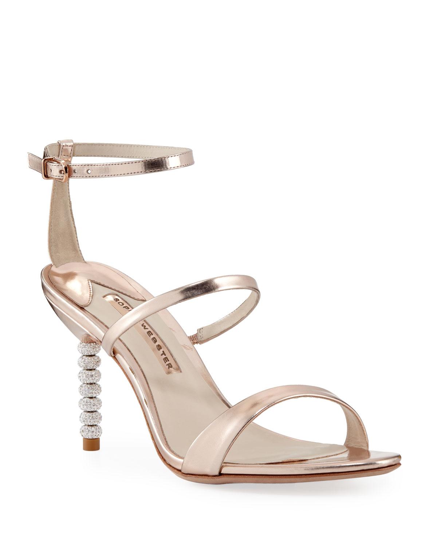 Rosalind Metallic Sphere-Heel Sandals