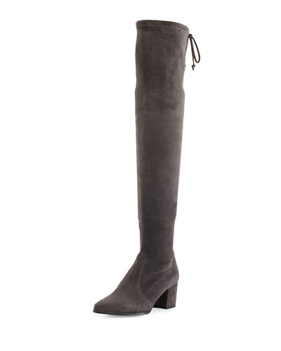 Thighland Suede Over-The-Knee Boot, Slate