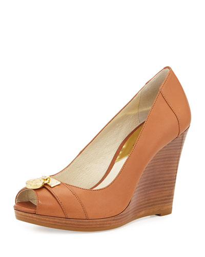 Hamilton Leather Wedge Pump