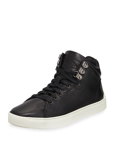 Kent Leather Platform High-Top Sneaker
