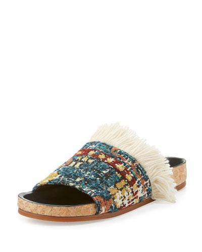 Kerenn Kilim-Rug Slide Sandal, Multicolor