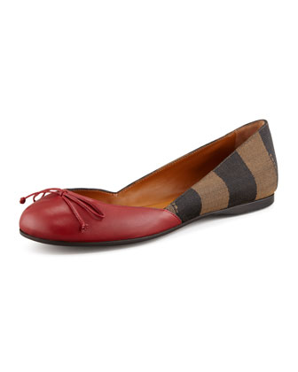 Pequin Striped Colorblock Ballerina Flat
