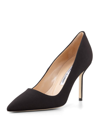 BB Crepe de Chine Pump, Black