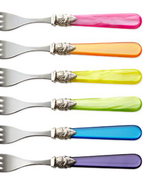 Napoleon Flatware :  picnic kitchen rainbow fork