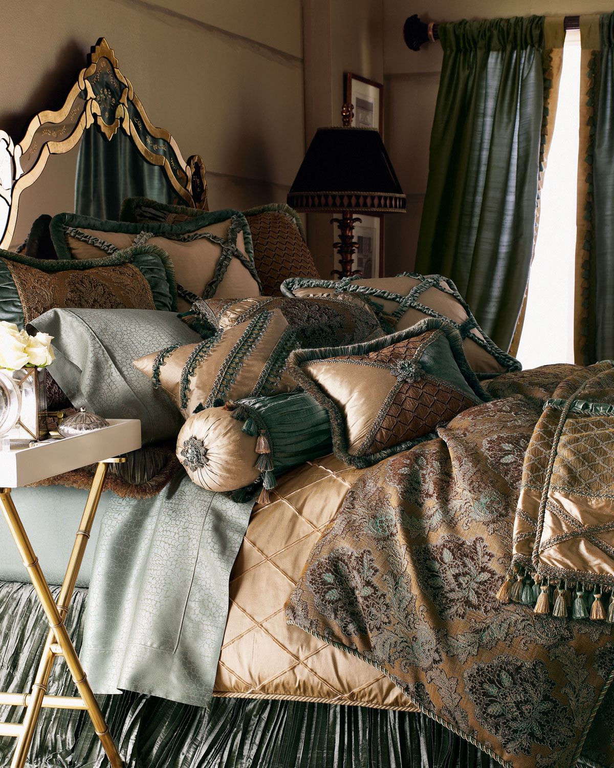 King Villa di Como Brocade Duvet Cover