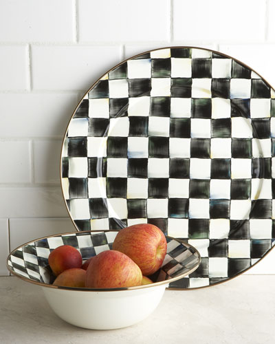 Courtly Check Platter & Bowl