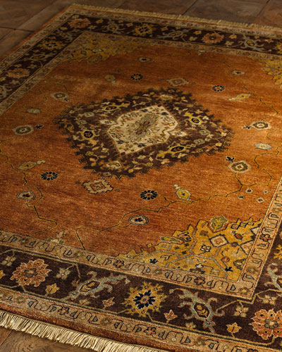 Chocolate Copper Medallion Rug