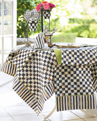 Courtly Check Table Linens