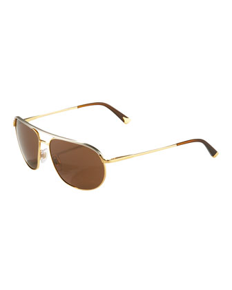 Two-Tone Thin Metal Aviators