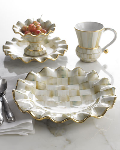 Parchment Check Dinnerware