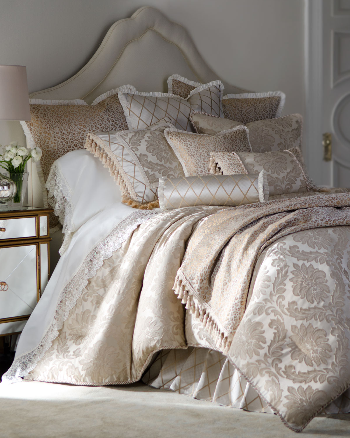 Darby King Damask Duvet Cover