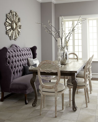 Isabella Wing Banquette, Liday Dining Table, & Swedish Side Chair