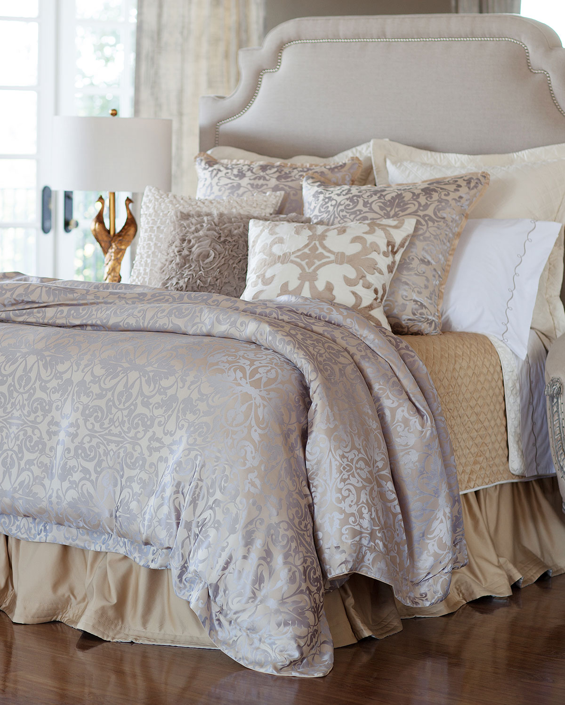 "Jackie Velvet Applique Pillow, 22""Sq."