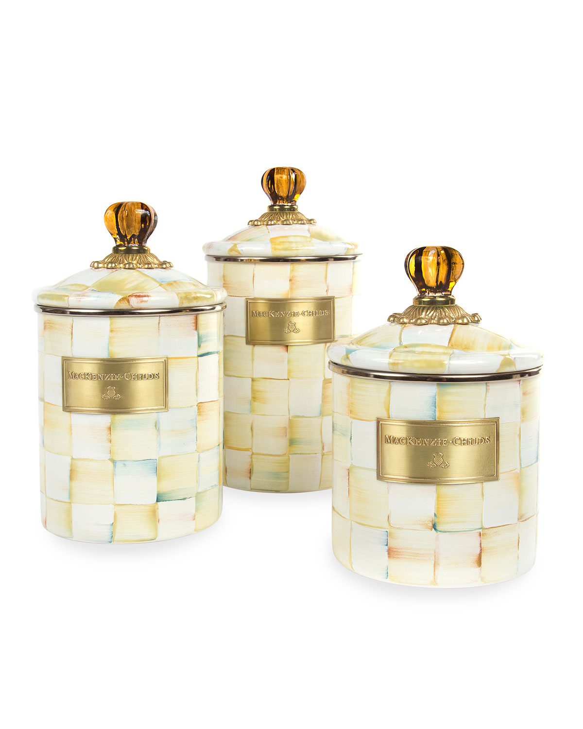 Parchment Check Medium Canister