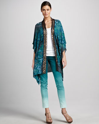 Oceanside Crepe Jacket, Knit Tank, Matchstick Twill Pants