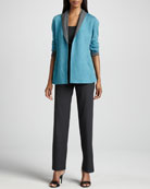 Felted Merino Jacket, Slim Tank & Straight-Leg Pants, Women's