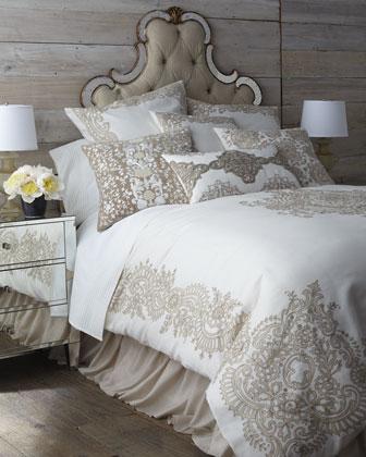 Taupe Cotton Bedding Neiman Marcus