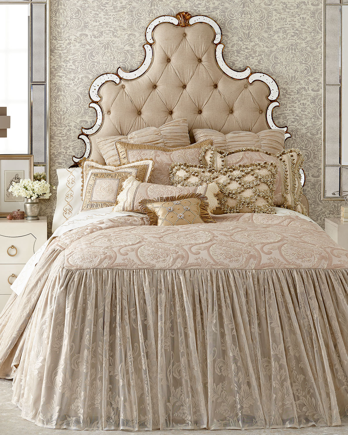 Kensington Garden Gathered Lace European Sham