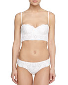 Sangallo Underwire Long-Line Bra & Lace Thong