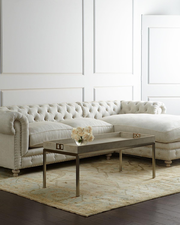 "Warner Linen Collection 77"" Sofa"