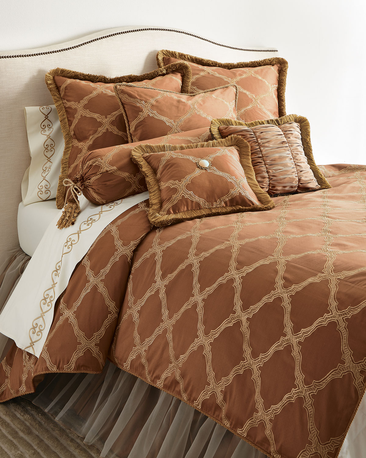 Versailles European Sham with Fringe