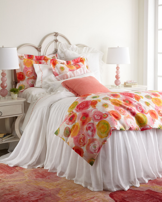 "Savannah Ruffled Double Boudoir Pillow, 15"" x 35"""