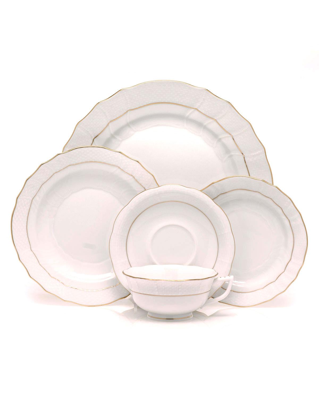 Golden Edge Salad Plate