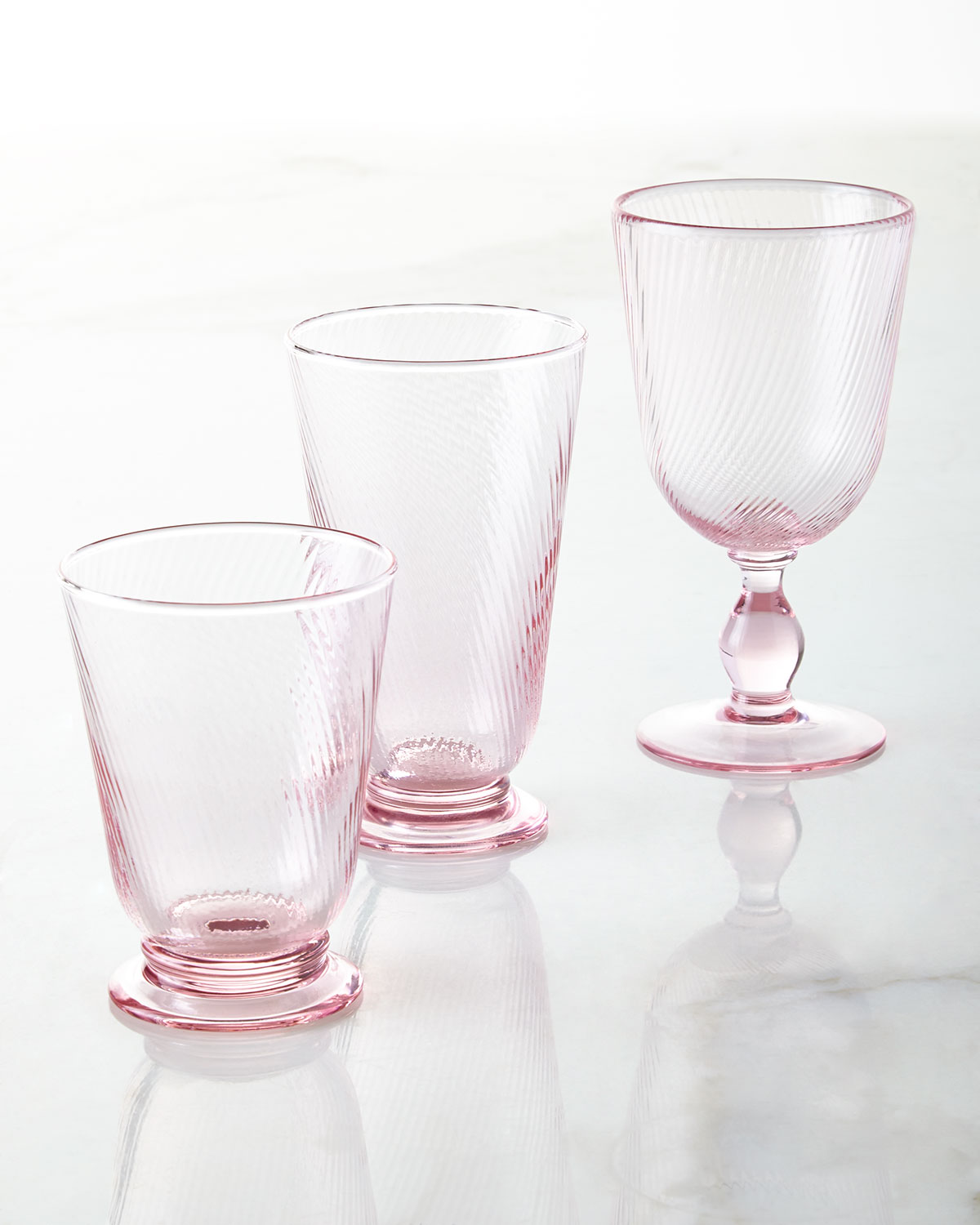 Arabella Pink Footed Goblet
