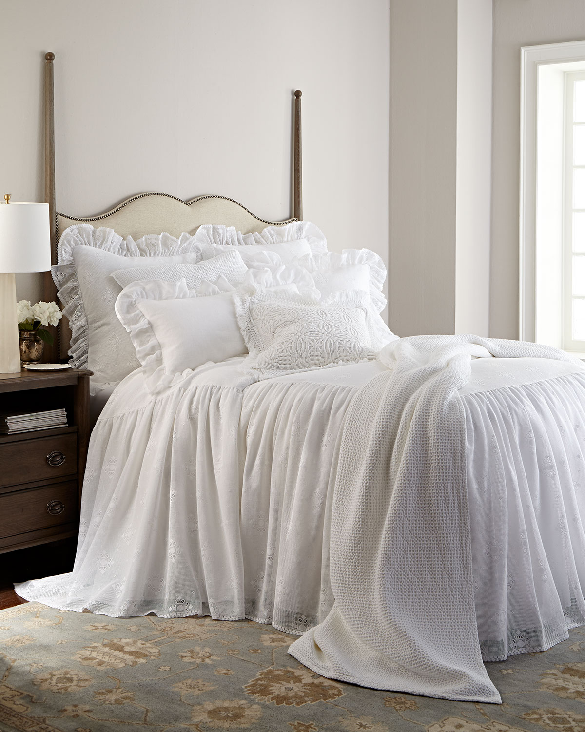 Perfect Cecily Queen Waffle Matelasse Coverlet. Pine Cone Hill