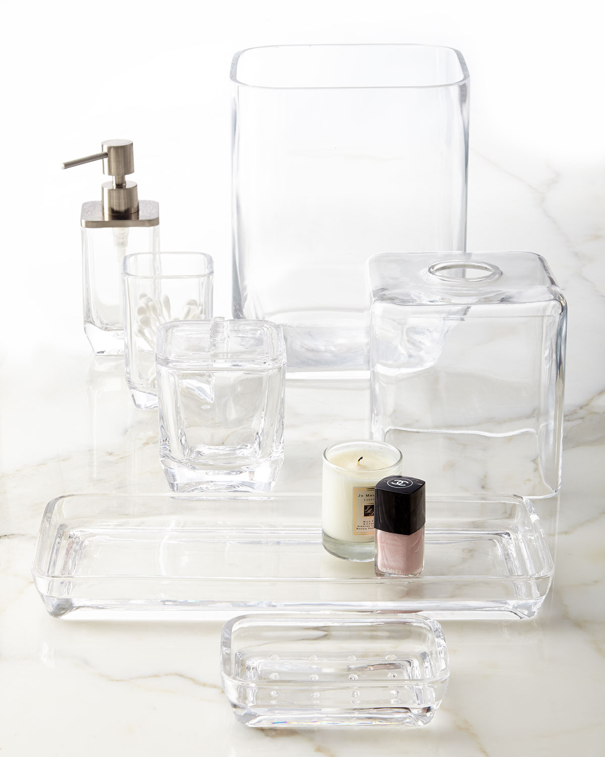 Clear Glass Vanity Tray