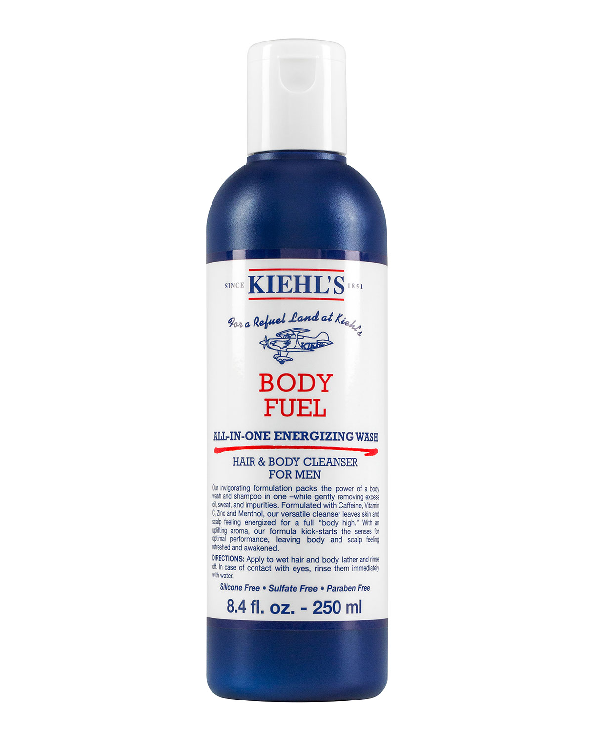 Body Fuel All-In-One Energizing Wash for Hair and Body, 2.5 oz.