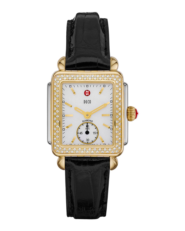 16mm Deco Diamond Watch Head, Two-Tone