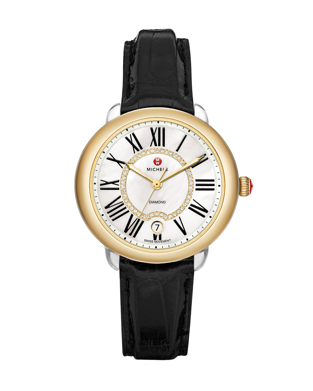 16mm Serein Diamond Dial Watch Head, Two-Tone