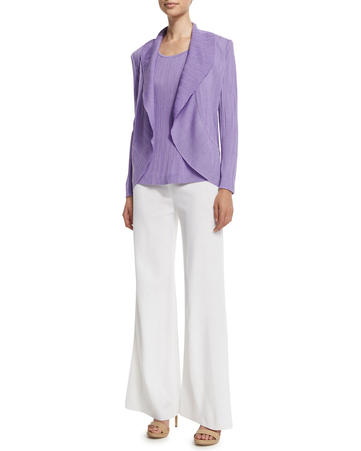 Washable Wide-Leg Pants, Petite