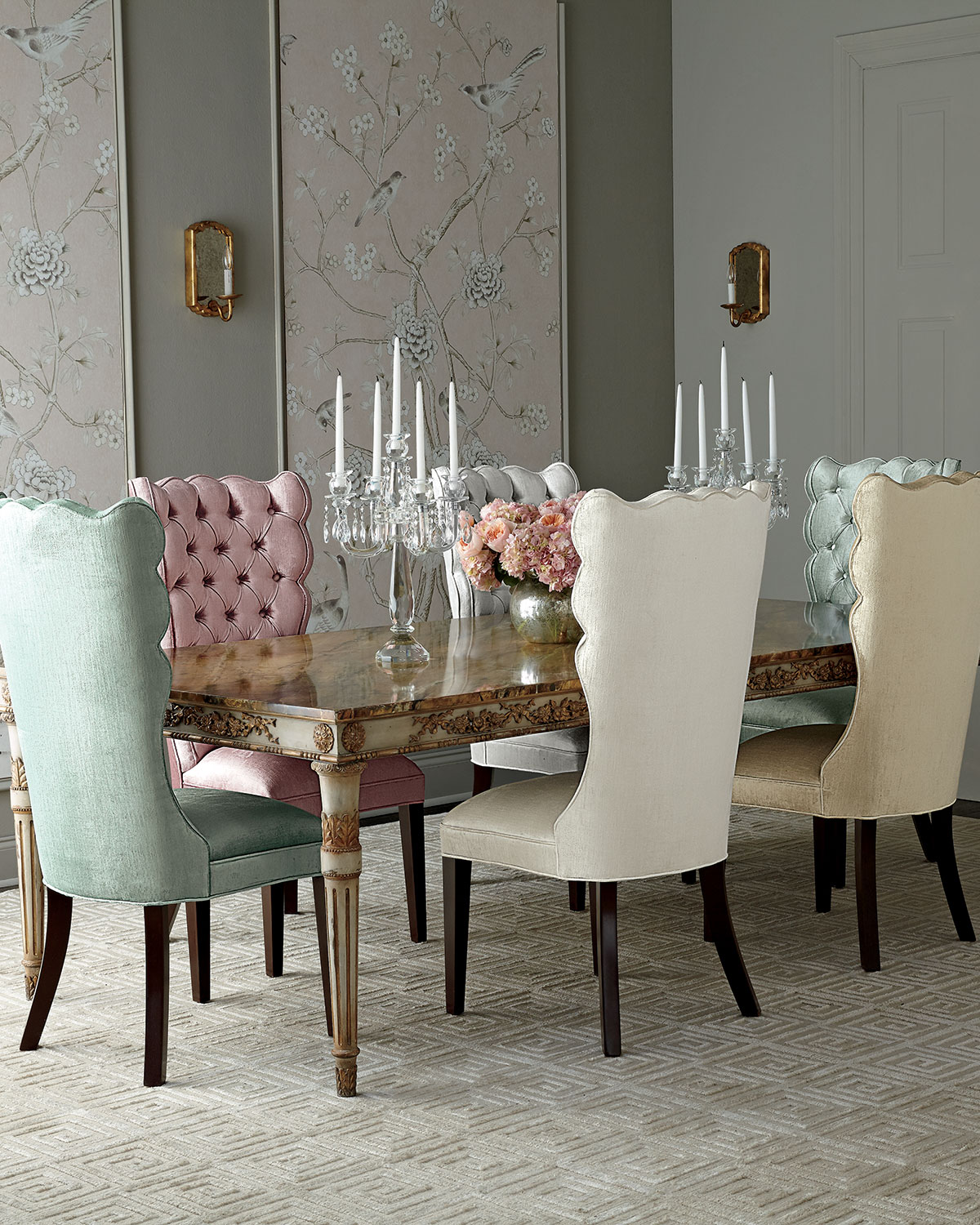 Doucette dining table neiman marcus for Stores like horchow