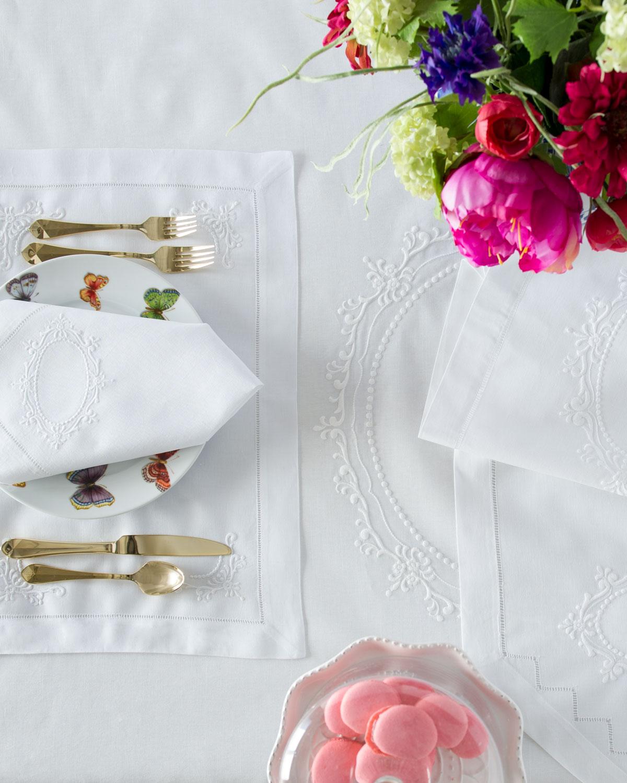 "Italian Crest Tablecloth, 68"" x 102"""