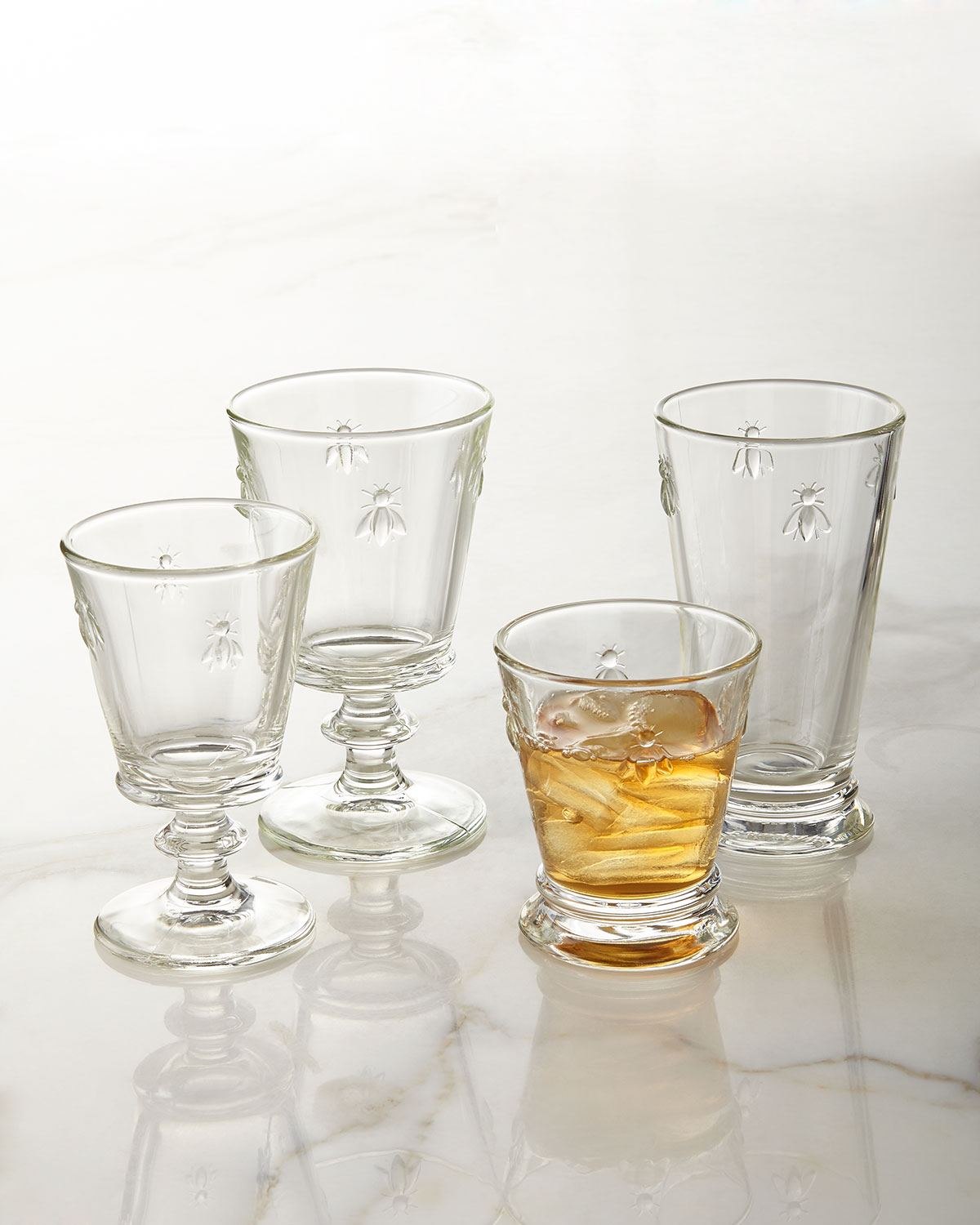 Bee Double Old-Fashioneds, Set of 6