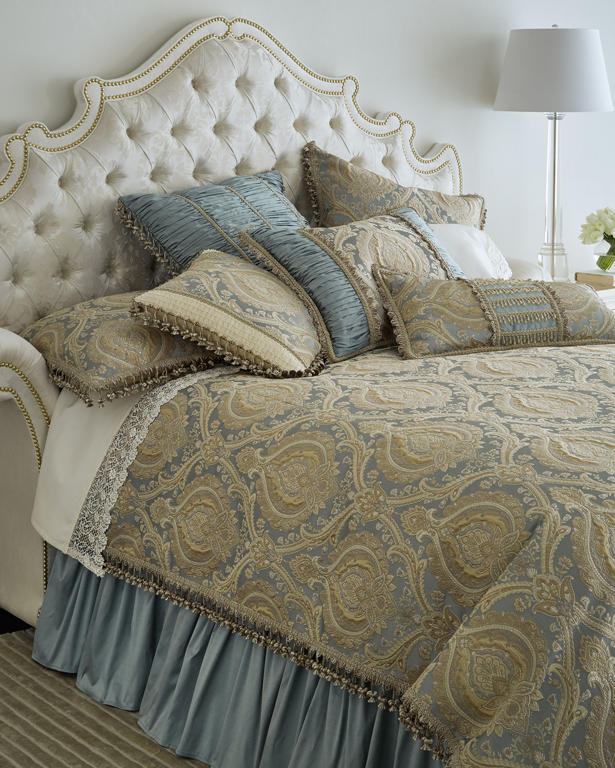 European Contessa Ruched Silk Sham