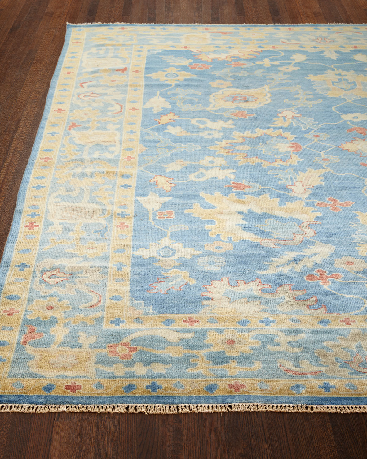 "Ribbon Blue Rug, 5'6"" x 8'6"""
