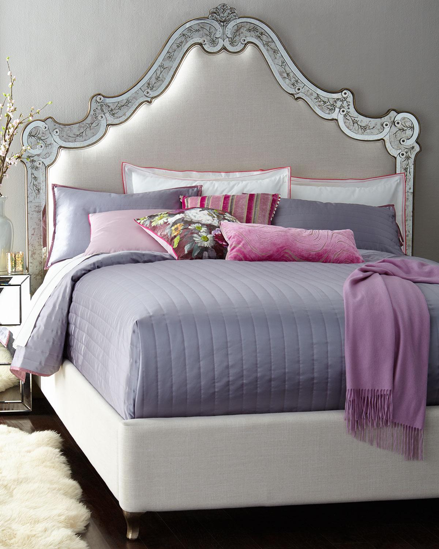 Venetian King Mirrored Bed
