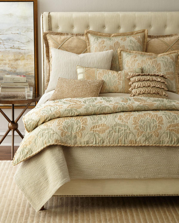 "Palladium Beaded Pillow, 14"" x 20"""
