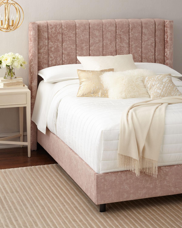 neiman marcus bedroom furniture. Lotus Channel-Tufted California King Bed Neiman Marcus Bedroom Furniture