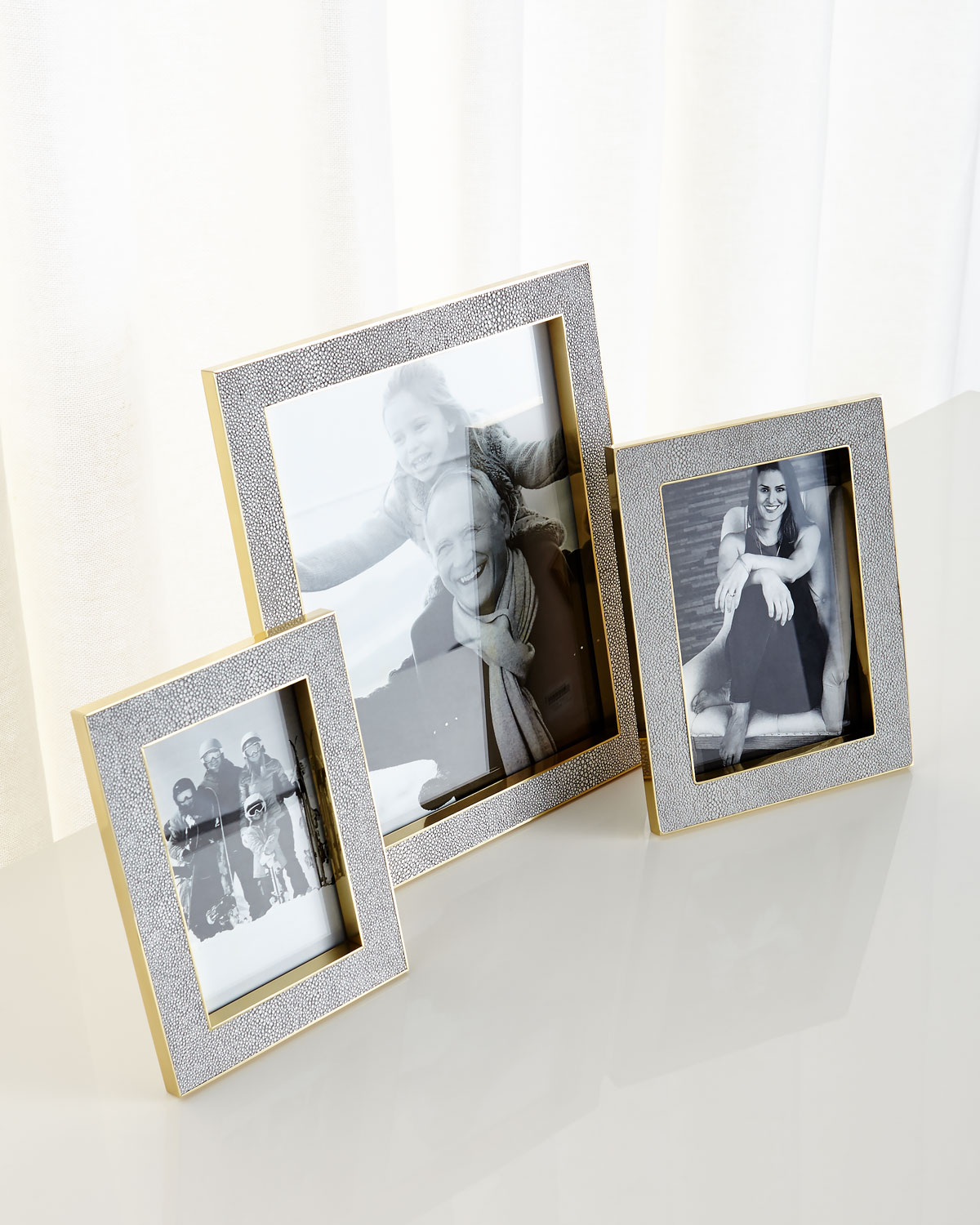 """Classic Dove Faux-Shagreen Frame, 4"""" x 6"""""""