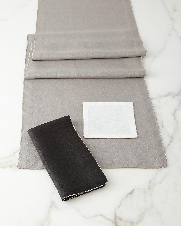 Silver-Beaded Napkin