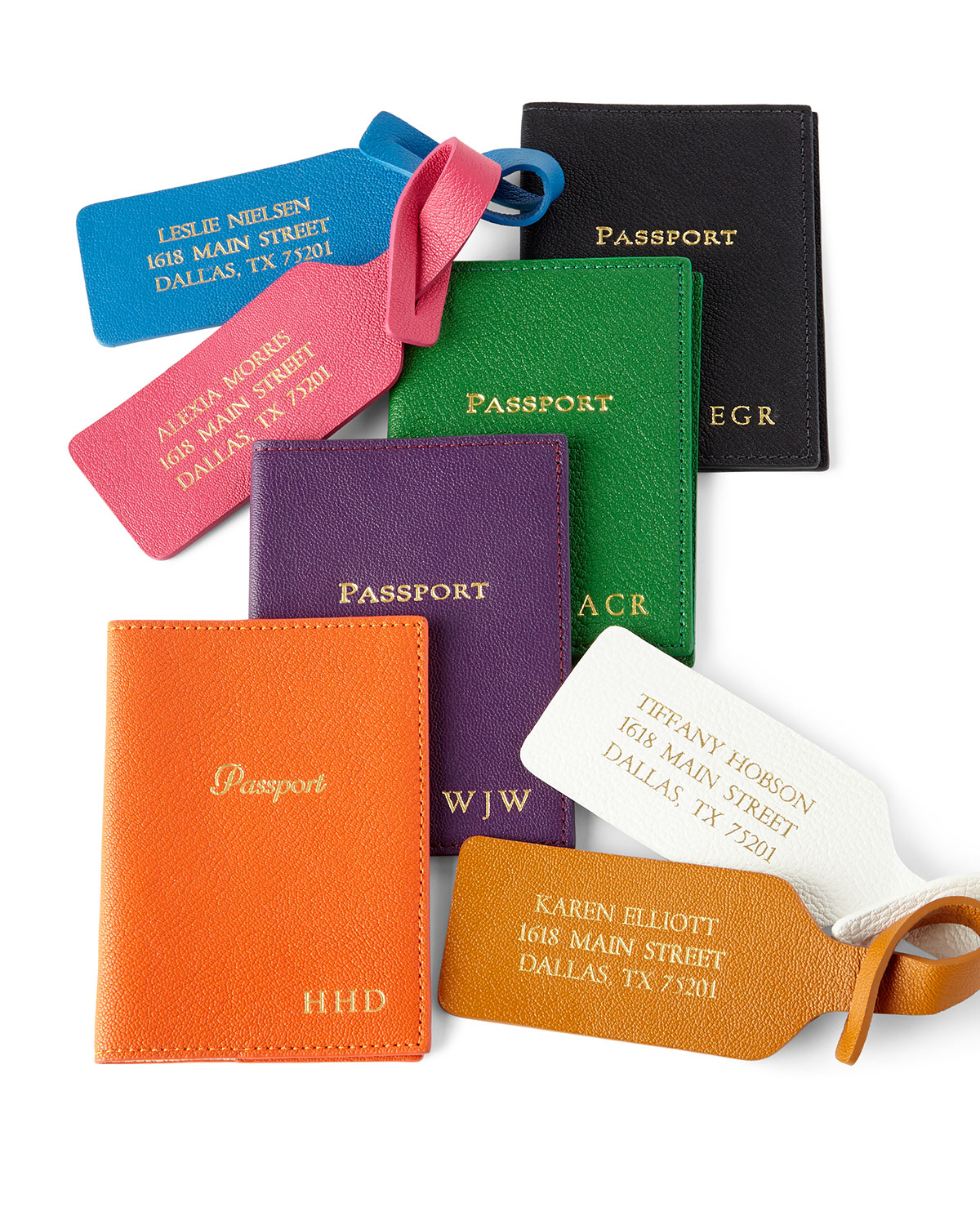 Personalized Luggage Tags, Set of 2