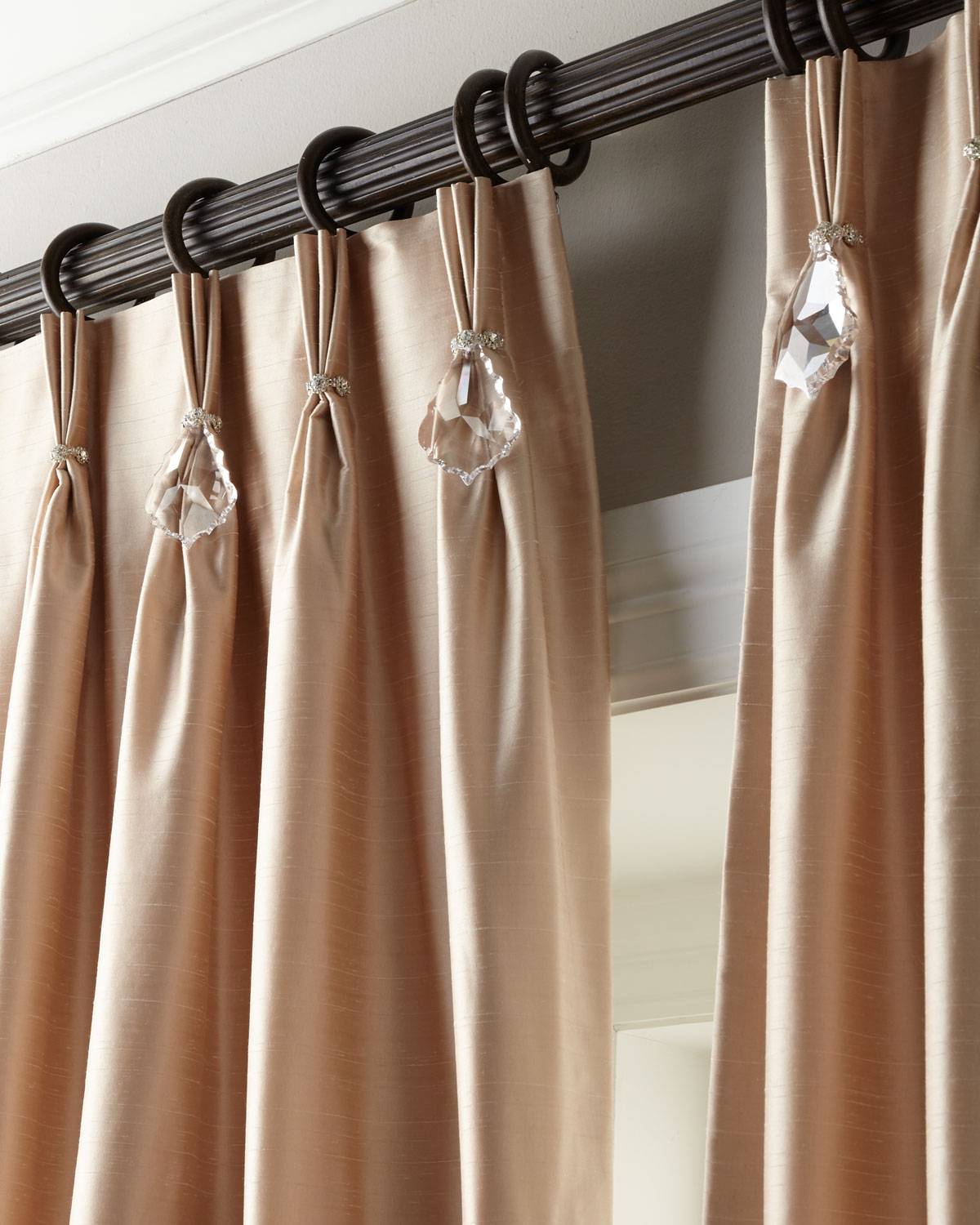 "Each 132""L Pinch-Pleat Curtain"