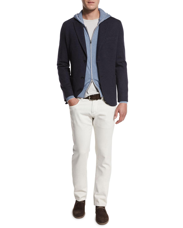 Cashmere-Blend Sweater Jacket